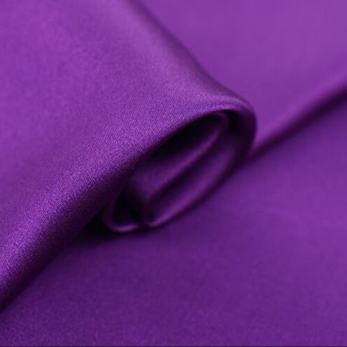"Howmay heavy satin silk fabric 30m/m 43"" 114cm 100% silk fabric violet for evening dress wedding gown"
