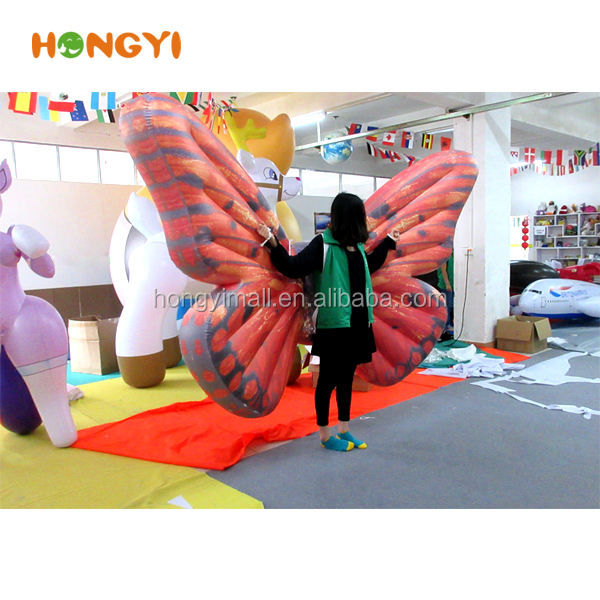 custom Various Inflatable color butterfly wings Clothing For advertising performance party decoration
