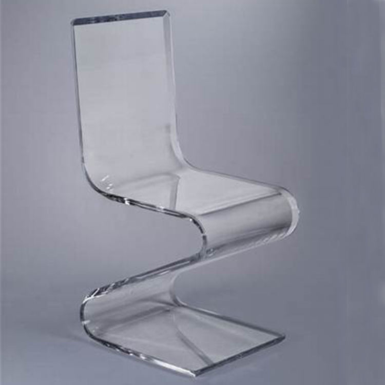 High Transparency Z Shaped Lucite Acrylic Chair