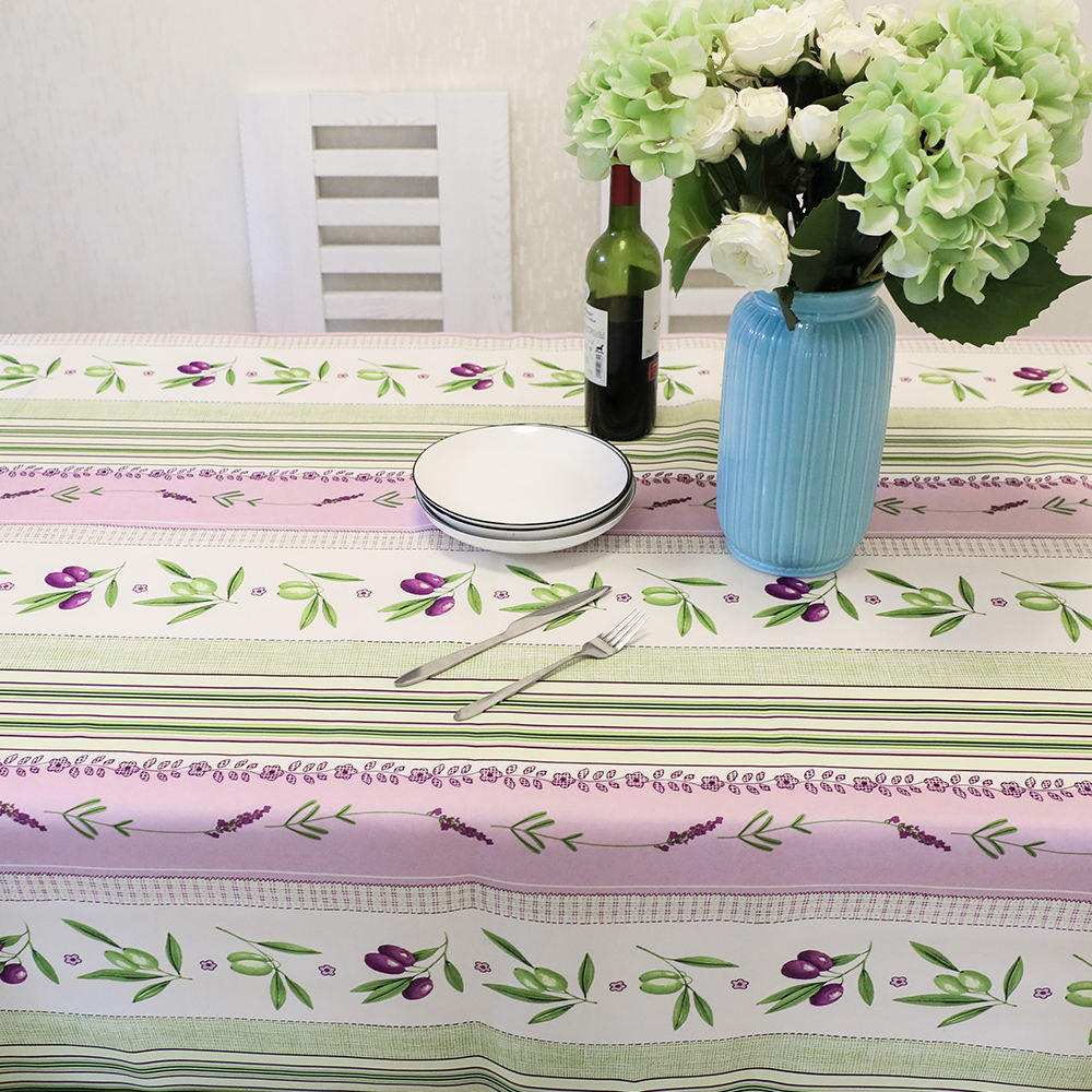Manufacture Polyester Custom Printed Dining Table Cloth