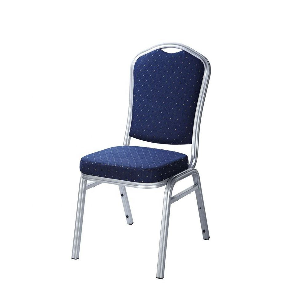 China Cheap Stackable metal frame Hotel Chair/ Banquet Chair/ Church Chair For Sale