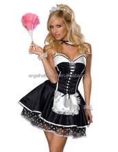 Ladies Women French Maid Outfit for Waitress Fancy Dress Costume AC5150
