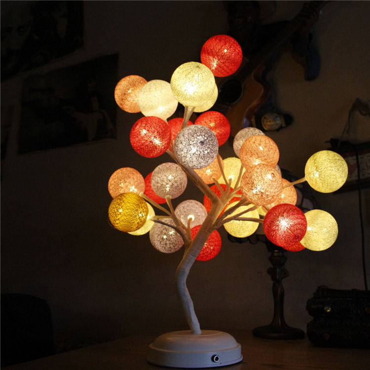 Hot selling Christmas string light led room decoration cotton balls lights