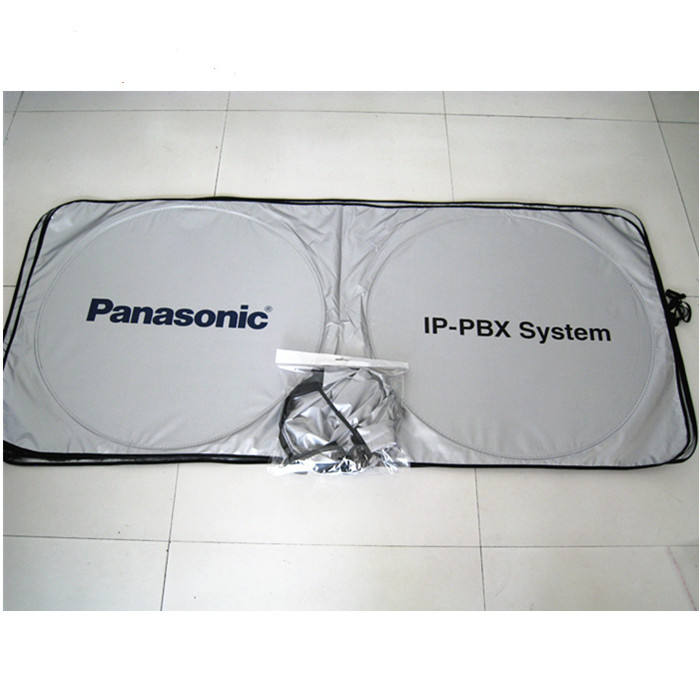 Novelty sunshade for car silver polyester sun shade