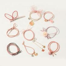 Bulk cheap wholesale custom women different charming styles new color elastic hair ring