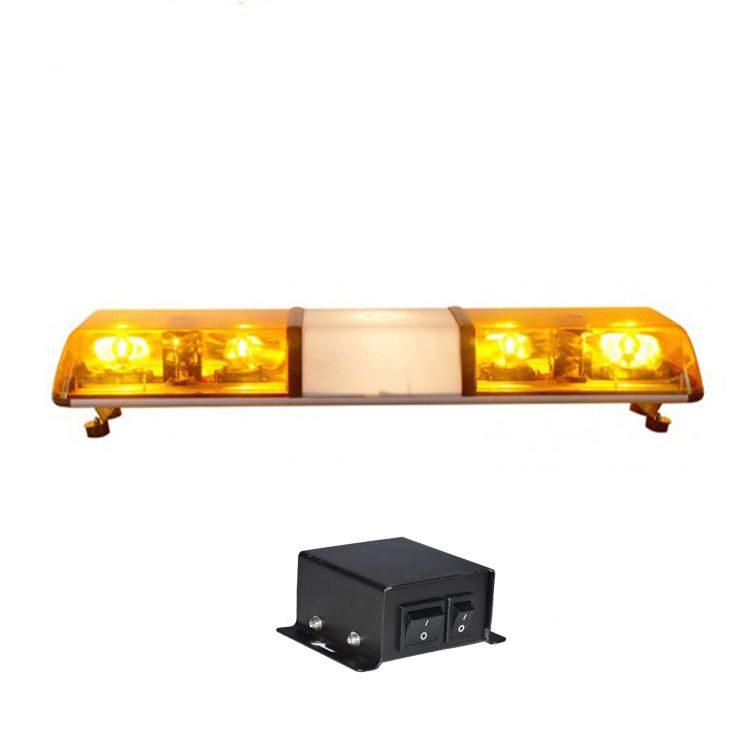 Highway maintenance 35w halogen rotating amber warning lightbar
