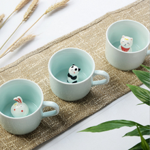 Special romantic Happy Anniversary gift for wife Cute animals cup