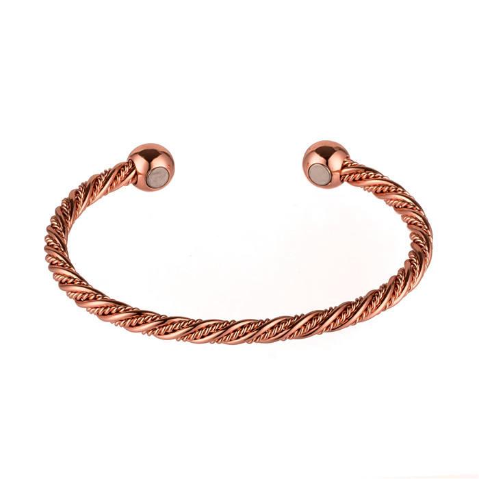 Solid Copper Bracelet Poignet Papillon fait main bijoux réglable Arthrite Douleur