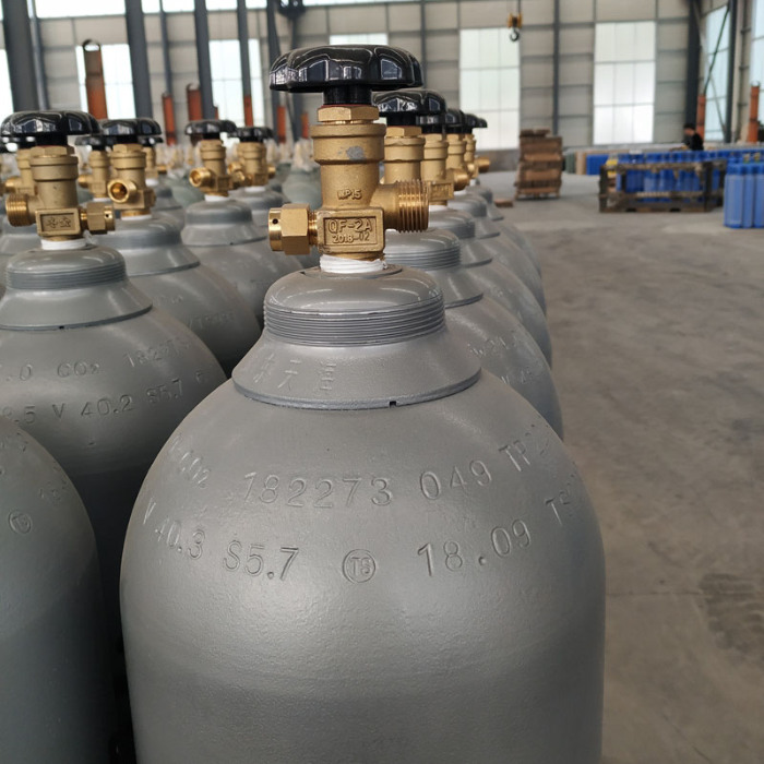 Seamless steel empty gas cylinder manufacturers 40 L CO2
