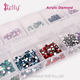 Hot Sell Round Flatback Crystal 12 colors 2 mm Acrylic Stone Nail Rhinestone For Nail Art
