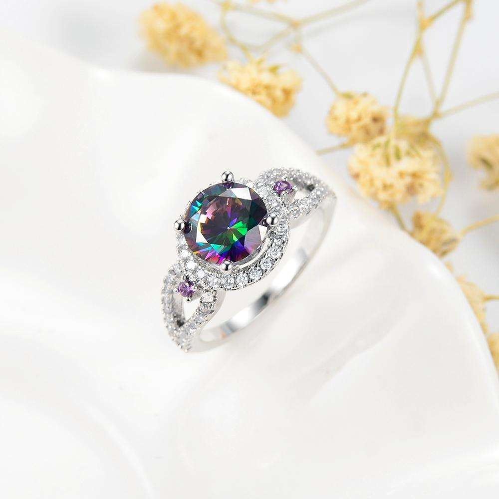 SAR7516 Sevenajewelry Brand Making Jewelry Rings For Multi Color Stone Bling Crystal CZ Finger Ring Dubai Style