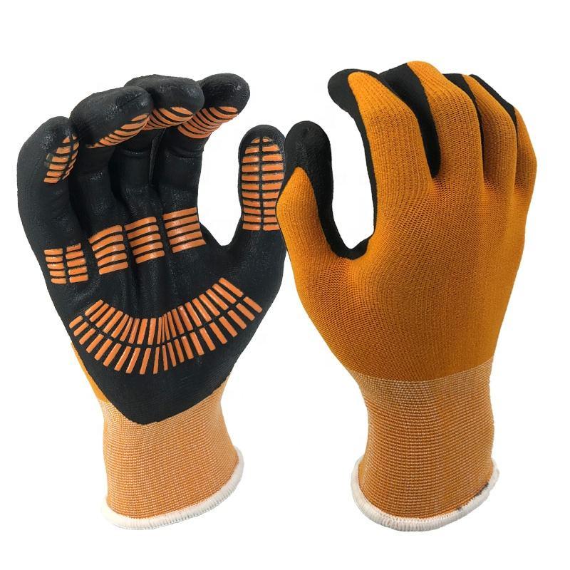 12 Pairs Nylon PVC Ox Tendon Gloves Protective Labour Safety Work Fishing Orange