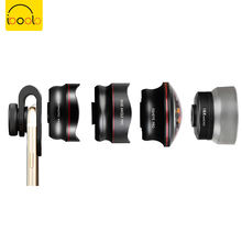 IBOOLO Universal clip 4 in 1 PRO phone camera lens kit Wide angle Fisheye Macro Telephoto lens
