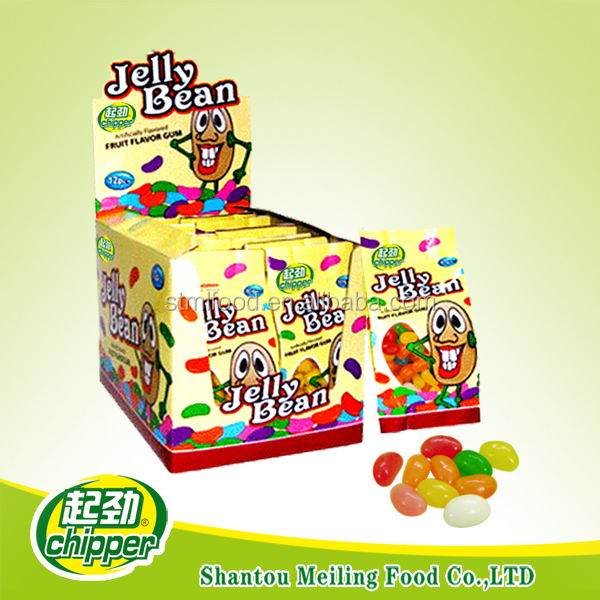 Mix fruit flavor jelly bean candy