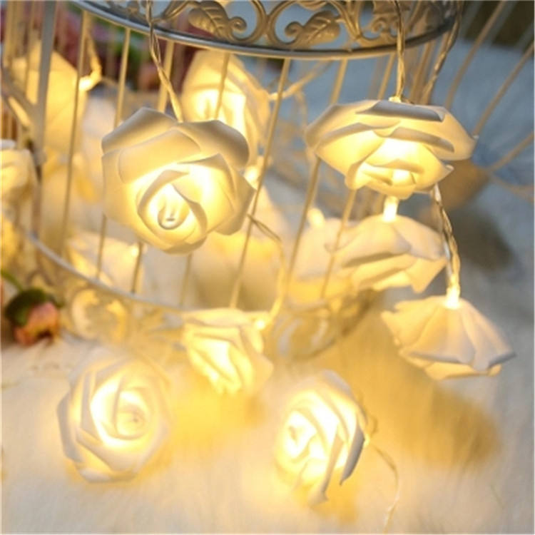 Battery Operated Warm White Color 3m 20 Lights Rose String Light/ LED Flower String Light For Holiday Decoration.