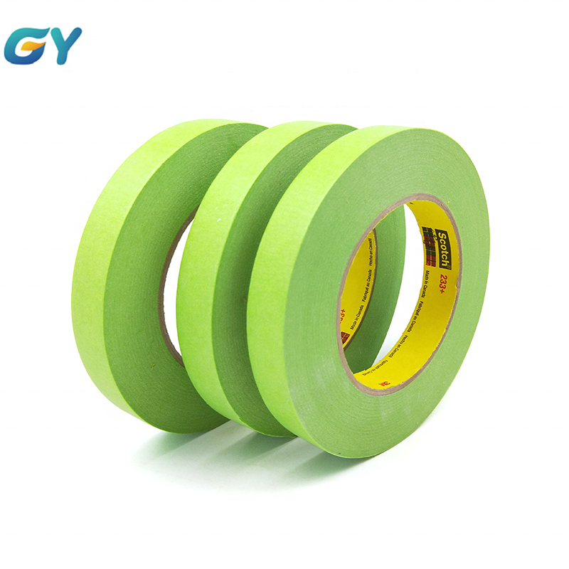 Adhesive Performance Green tape for auto use of factory with high quality 3M 233+ in all automotive repair and painting
