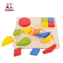 Baby geometrical shape sorting blocks board wooden montessori puzzle toy for toddler 1+