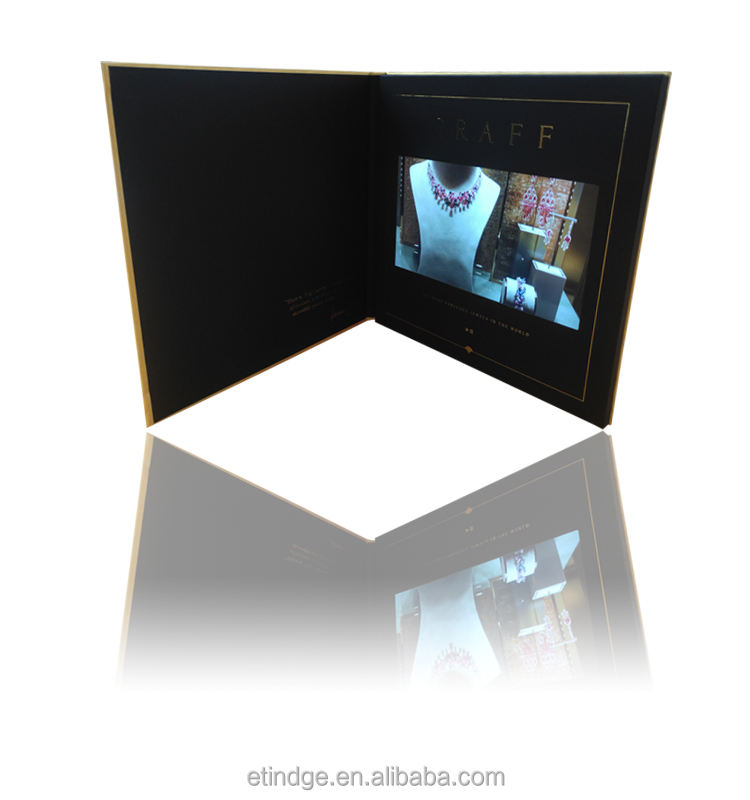 Offset Printing 7 Inch TFT Lcd Screen Video Greeting Card As Invitation Gift