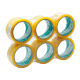 Reliable 2'' x 55y Honey Yellow Bopp Wrapping Sealing Self Adhesive Tape