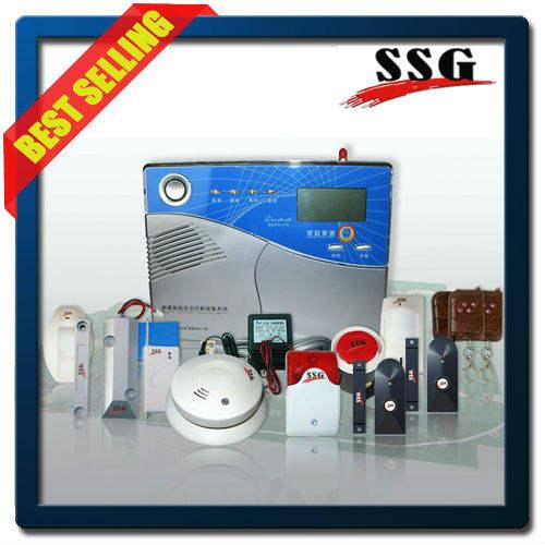 Беспроводная GSM охранная сигнализация с большим ЖК-дисплеем и поддержкой послать СМС и набрать голосового вызова