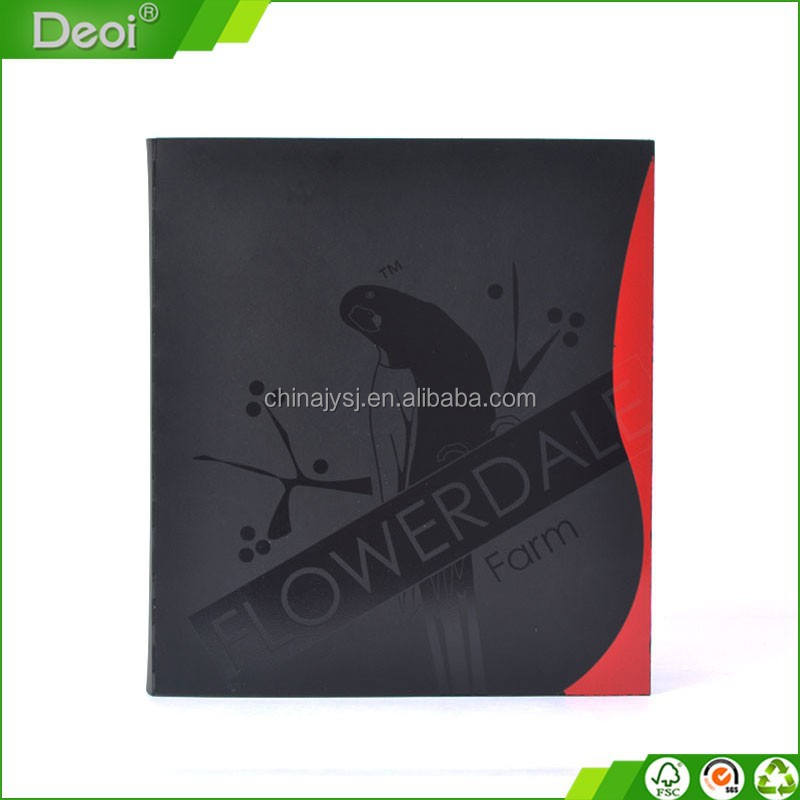 Creative design custom made A3 A4 A5 size PP polypropylene plastic D shape clip Ring Binder with 3 holes
