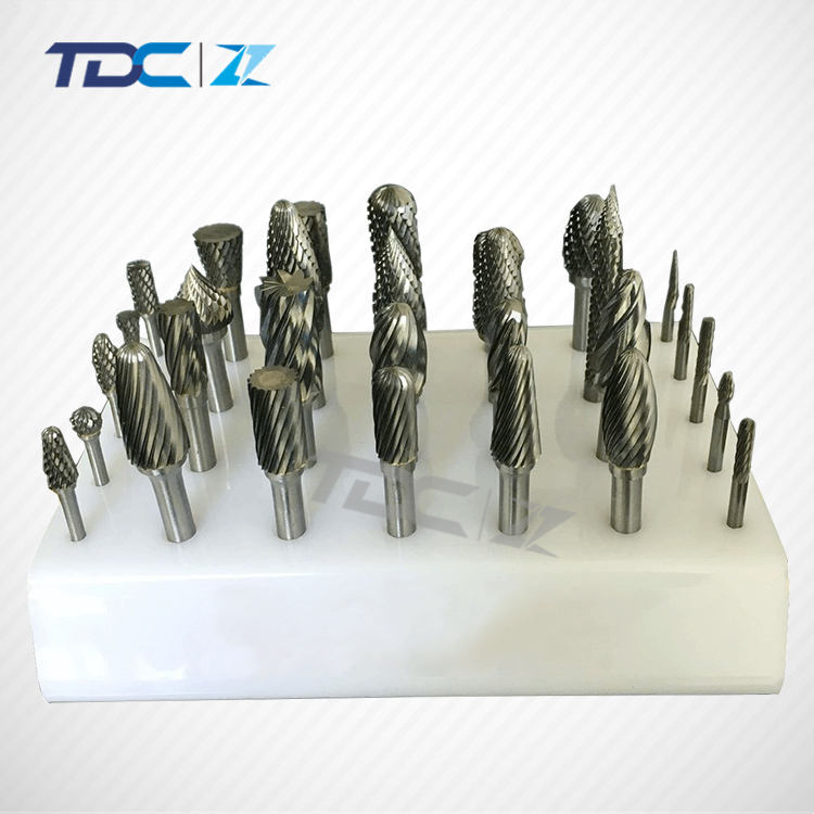 Carbide Burr Rotary Drill Bits Tool Cutter Files Set for Deburring Carving SB-9M