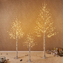 Festival Decoration Artificial Twig Birch Warm White Led Tree Light