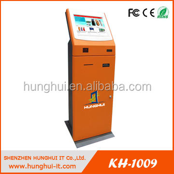 automatic vending machine / Touchscreen Ticket Vending Kiosk with thermal printer