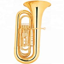 Bb key Gold Lacquer 4 Piston Valve Tuba