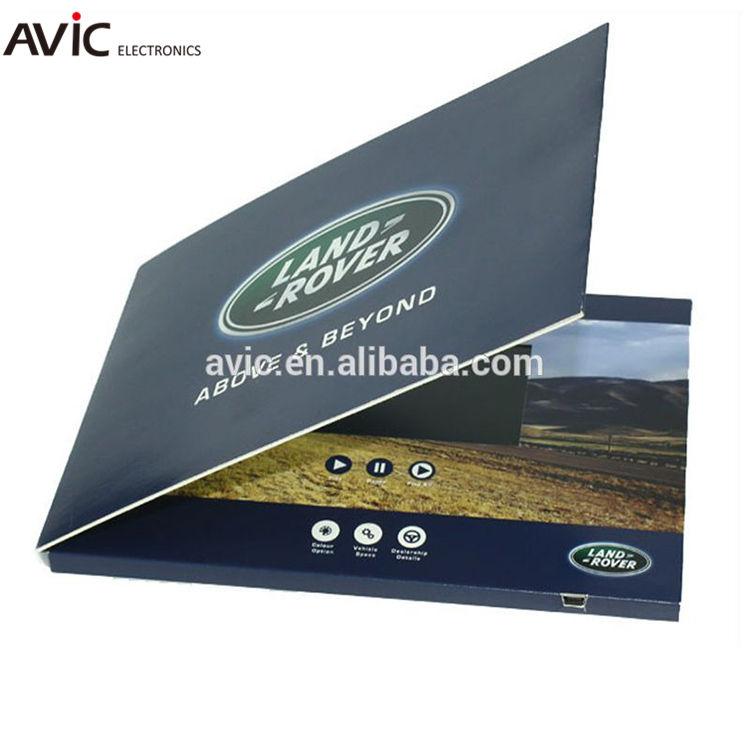 Fornecimento de fábrica de 4.3 polegada Lcd Vídeo Brochura <span class=keywords><strong>Digital</strong></span>, <span class=keywords><strong>cartão</strong></span> de vídeo, vídeo folheto para promo
