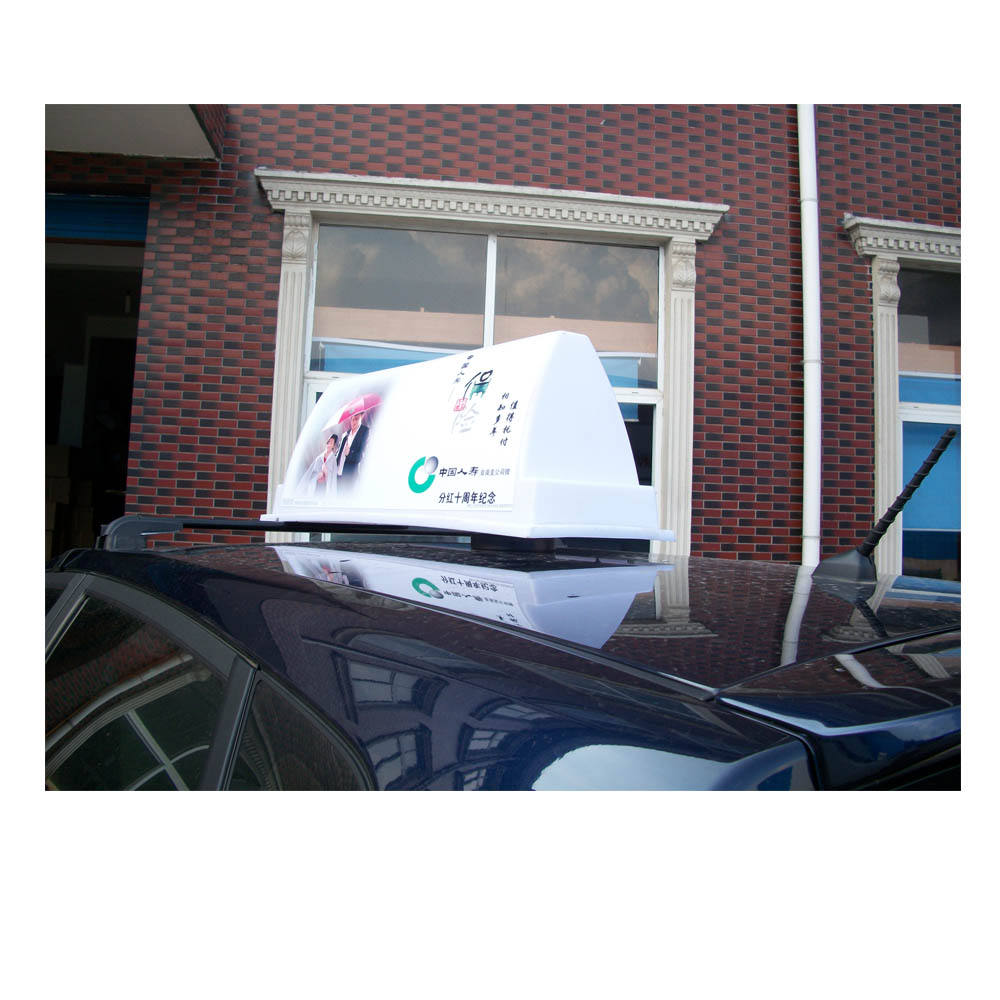 Advertising boards on car top LED light taxi top advertising light box magnetic mounting