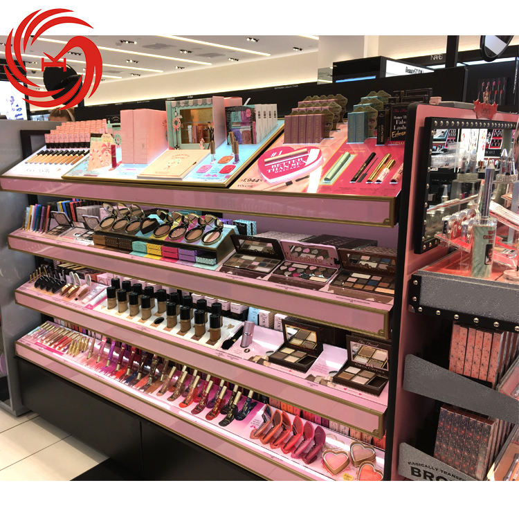 Commercial furniture cosmetic shelf rack display for sale