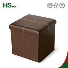 HStex PVC modern foldable storage footrest