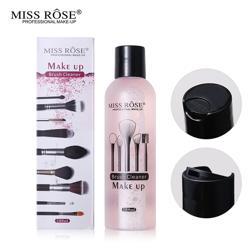 OEM Miss Rose Professional Makeup Tools Liquid Cleaner 180ml Quickly Cleaning Blush and Puff Cleaner Remover Tool