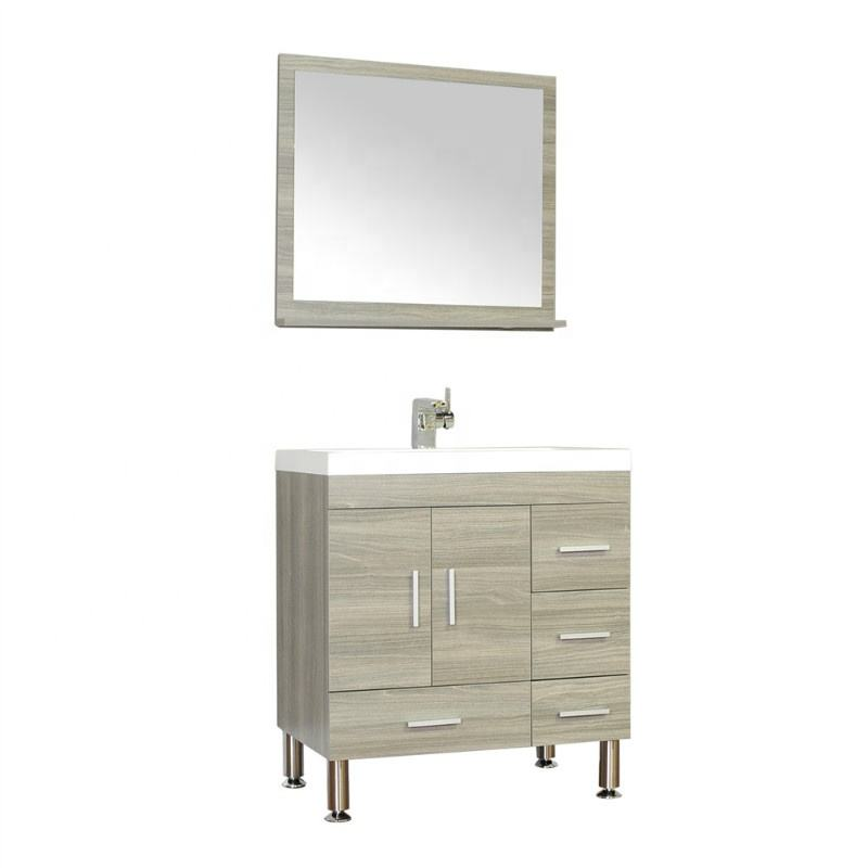 8050-G 30 inch free stand european style medicine wooden bathroom cabinet vanity with 2 doors and 4 drawers