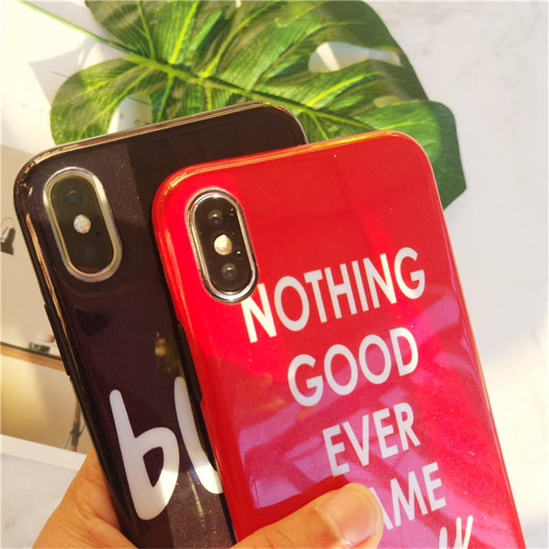 New mobile case covers for iphone x/10 English words mobile phone case for iphone 6/6s plus/7/7 plus/8/8 plus