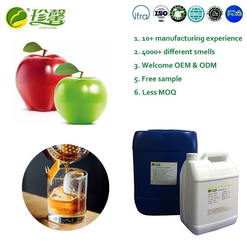 Liquid flavour concentrate apple flavor for liquor
