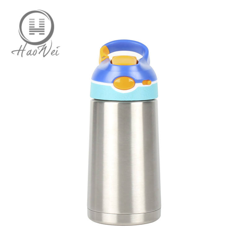 New arrival 380ML with lock vacuum thermal Insulation kids stainless steel BPA free sippy sport water bottle