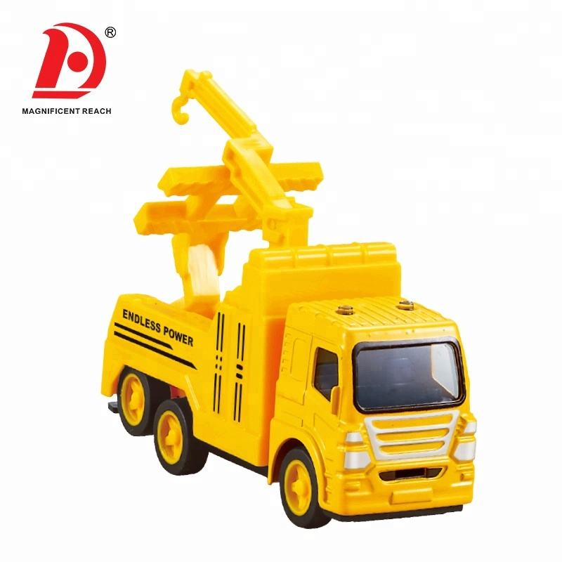 HUADA 2020 Wholesale 6pcs Different Style High Quality Alloy Pull Back Diecast Truck Model Toy Set