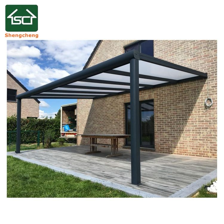 Aluminum pergola prefabricated glass house for glass veranda