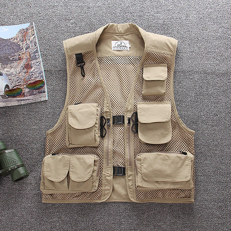 Wholesale Waterproof Multipockets and Multifunctional Fishing Vest /Reporter Vest,Photography Vest for Men