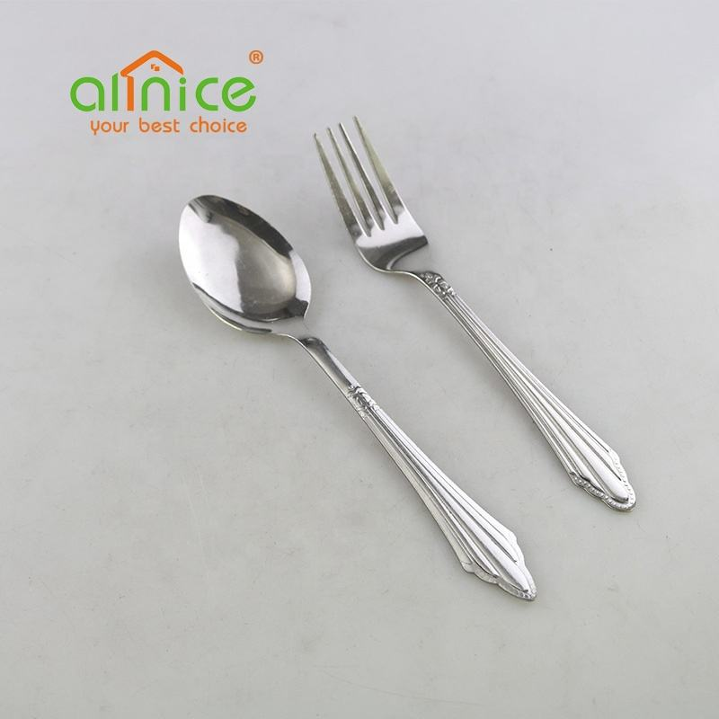Economic good quality metal spoon forks stainless steel cutlery set for home tableware