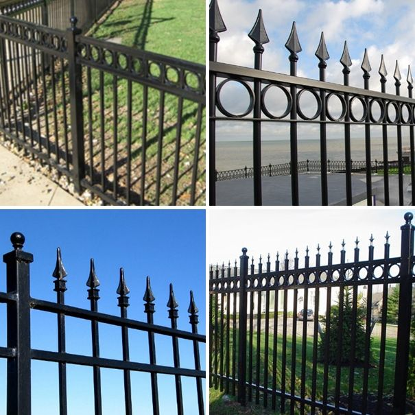 2016 Good quality colors house gate designs and Wrought iron fence / steel fence.