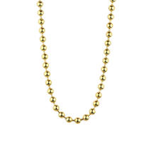 Miss jewelry 2.5mm PVD plating 14k 18k italian gold bead chain necklace