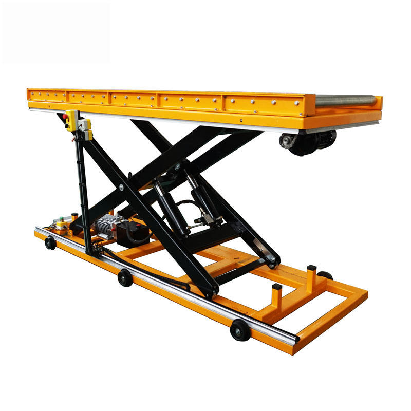 Yi-Lift 1 ton fixed roller scissor lift table with roller table for sale