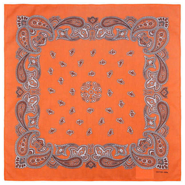 Wholesale Cheap Promotion Gift Multi 100% Cotton Fabric Square In Stock Paisley Bandana