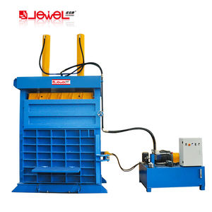 Factory direct sell vertical hydraulic waste tire recycling baler machine