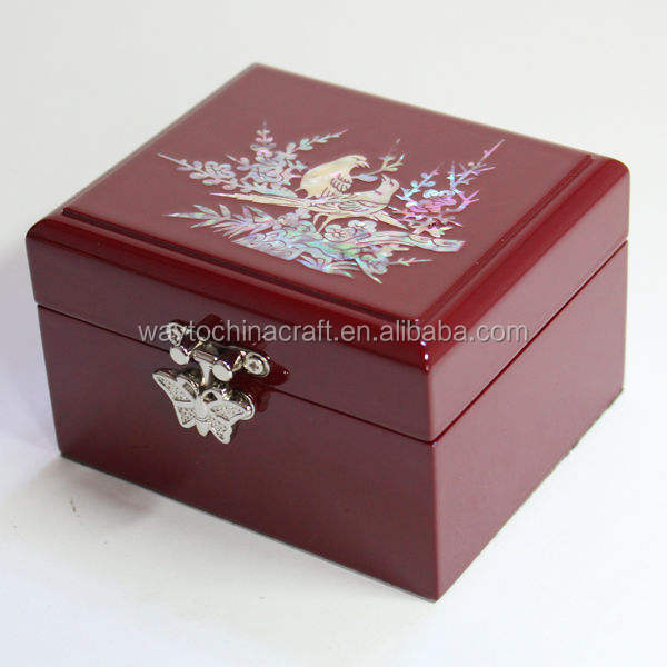 Elegant jewel box case wood for weddings