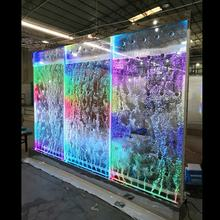 bar decorative screen room divider acrylic led water bubble wall