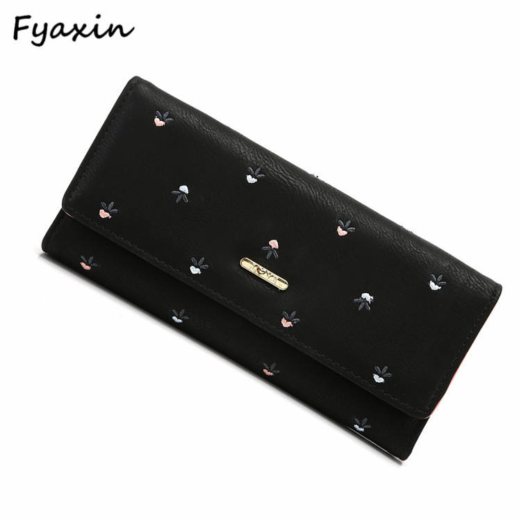 Large Capacity PU Leather Lady Wallet Women Wallet Women Purse Made In China